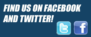 Find us on Facebook and Twitter